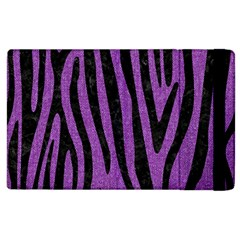 Skin4 Black Marble & Purple Denim (r) Apple Ipad 2 Flip Case by trendistuff