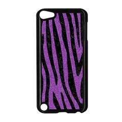 Skin4 Black Marble & Purple Denim (r) Apple Ipod Touch 5 Case (black) by trendistuff