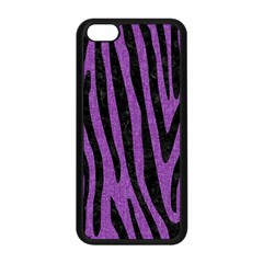 Skin4 Black Marble & Purple Denim (r) Apple Iphone 5c Seamless Case (black) by trendistuff