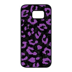Skin5 Black Marble & Purple Denim Samsung Galaxy S7 Edge Black Seamless Case by trendistuff