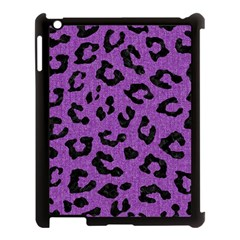 Skin5 Black Marble & Purple Denim (r) Apple Ipad 3/4 Case (black) by trendistuff