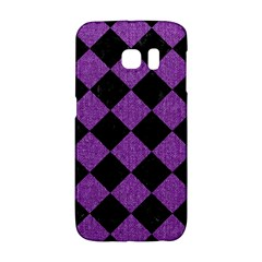 Square2 Black Marble & Purple Denim Galaxy S6 Edge by trendistuff