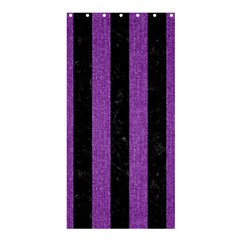 Stripes1 Black Marble & Purple Denim Shower Curtain 36  X 72  (stall)  by trendistuff
