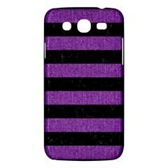 Stripes2 Black Marble & Purple Denim Samsung Galaxy Mega 5 8 I9152 Hardshell Case  by trendistuff