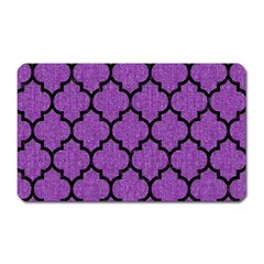 Tile1 Black Marble & Purple Denim Magnet (rectangular) by trendistuff