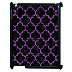 Tile1 Black Marble & Purple Denim (r) Apple Ipad 2 Case (black) by trendistuff