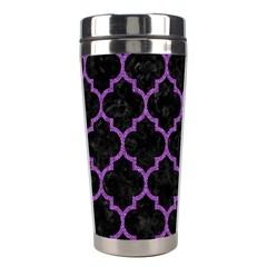 Tile1 Black Marble & Purple Denim (r) Stainless Steel Travel Tumblers by trendistuff