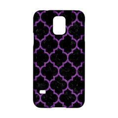 Tile1 Black Marble & Purple Denim (r) Samsung Galaxy S5 Hardshell Case  by trendistuff