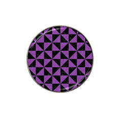 Triangle1 Black Marble & Purple Denim Hat Clip Ball Marker (10 Pack) by trendistuff