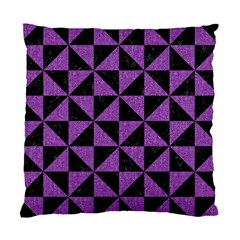 Triangle1 Black Marble & Purple Denim Standard Cushion Case (two Sides) by trendistuff
