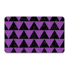 Triangle2 Black Marble & Purple Denim Magnet (rectangular) by trendistuff