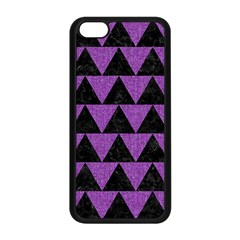 Triangle2 Black Marble & Purple Denim Apple Iphone 5c Seamless Case (black) by trendistuff