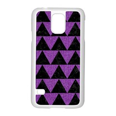 Triangle2 Black Marble & Purple Denim Samsung Galaxy S5 Case (white) by trendistuff