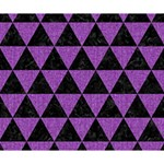 TRIANGLE3 BLACK MARBLE & PURPLE DENIM Deluxe Canvas 14  x 11  14  x 11  x 1.5  Stretched Canvas
