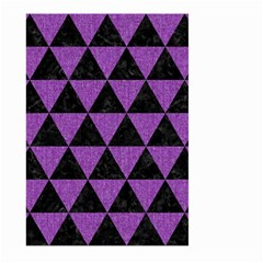 Triangle3 Black Marble & Purple Denim Large Garden Flag (two Sides) by trendistuff