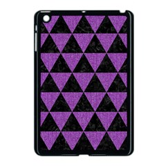 Triangle3 Black Marble & Purple Denim Apple Ipad Mini Case (black) by trendistuff