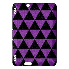Triangle3 Black Marble & Purple Denim Kindle Fire Hdx Hardshell Case by trendistuff