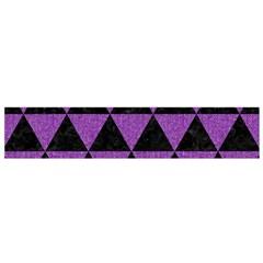 Triangle3 Black Marble & Purple Denim Small Flano Scarf by trendistuff