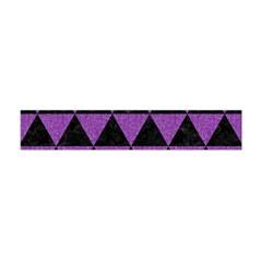 Triangle3 Black Marble & Purple Denim Flano Scarf (mini) by trendistuff