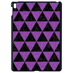 Triangle3 Black Marble & Purple Denim Apple Ipad Pro 9 7   Black Seamless Case by trendistuff