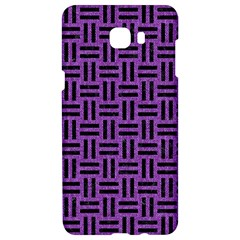 Woven1 Black Marble & Purple Denim Samsung C9 Pro Hardshell Case  by trendistuff