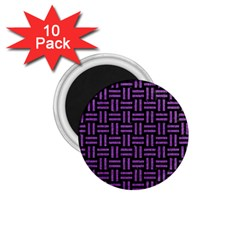Woven1 Black Marble & Purple Denim (r) 1 75  Magnets (10 Pack)  by trendistuff