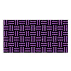 Woven1 Black Marble & Purple Denim (r) Satin Shawl by trendistuff