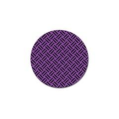 Woven2 Black Marble & Purple Denim Golf Ball Marker by trendistuff