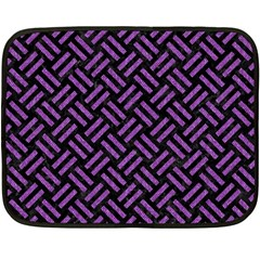 Woven2 Black Marble & Purple Denim (r) Fleece Blanket (mini) by trendistuff