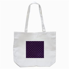 Woven2 Black Marble & Purple Denim (r) Tote Bag (white) by trendistuff