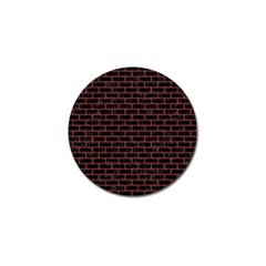 Brick1 Black Marble & Red Denim (r) Golf Ball Marker by trendistuff