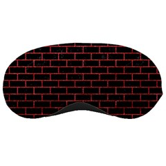 Brick1 Black Marble & Red Denim (r) Sleeping Masks by trendistuff