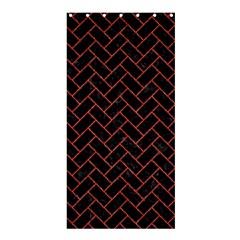 Brick2 Black Marble & Red Denim (r) Shower Curtain 36  X 72  (stall)  by trendistuff