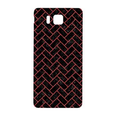 Brick2 Black Marble & Red Denim (r) Samsung Galaxy Alpha Hardshell Back Case by trendistuff