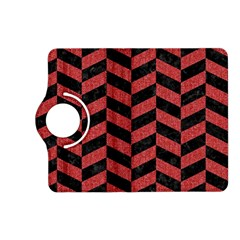 Chevron1 Black Marble & Red Denim Kindle Fire Hd (2013) Flip 360 Case by trendistuff