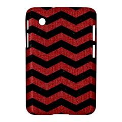 Chevron3 Black Marble & Red Denim Samsung Galaxy Tab 2 (7 ) P3100 Hardshell Case  by trendistuff