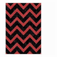 Chevron9 Black Marble & Red Denim (r) Small Garden Flag (two Sides) by trendistuff
