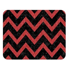 Chevron9 Black Marble & Red Denim (r) Double Sided Flano Blanket (large)  by trendistuff