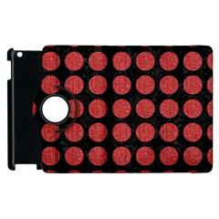 Circles1 Black Marble & Red Denim (r) Apple Ipad 2 Flip 360 Case by trendistuff