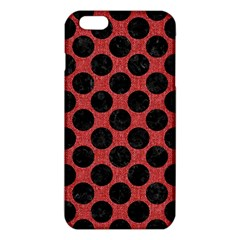 Circles2 Black Marble & Red Denim Iphone 6 Plus/6s Plus Tpu Case by trendistuff