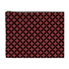 Circles3 Black Marble & Red Denim Cosmetic Bag (xl) by trendistuff