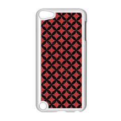 Circles3 Black Marble & Red Denim Apple Ipod Touch 5 Case (white) by trendistuff