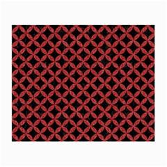 Circles3 Black Marble & Red Denim (r) Small Glasses Cloth by trendistuff