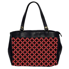 Circles3 Black Marble & Red Denim (r) Office Handbags (2 Sides)  by trendistuff