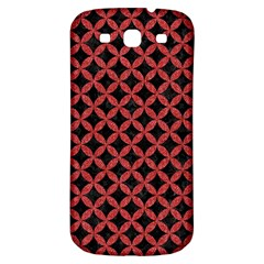 Circles3 Black Marble & Red Denim (r) Samsung Galaxy S3 S Iii Classic Hardshell Back Case by trendistuff