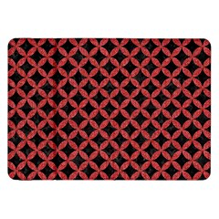 Circles3 Black Marble & Red Denim (r) Samsung Galaxy Tab 8 9  P7300 Flip Case by trendistuff