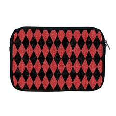 Diamond1 Black Marble & Red Denim Apple Macbook Pro 17  Zipper Case by trendistuff