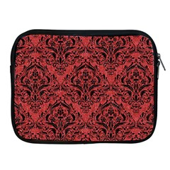 Damask1 Black Marble & Red Denim Apple Ipad 2/3/4 Zipper Cases by trendistuff