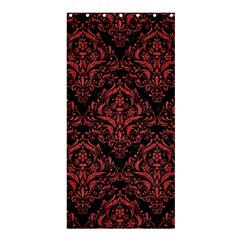 Damask1 Black Marble & Red Denim (r) Shower Curtain 36  X 72  (stall)  by trendistuff
