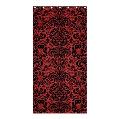 Damask2 Black Marble & Red Denim Shower Curtain 36  X 72  (stall)  by trendistuff